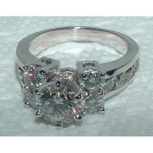 3.25 CT. diamond engagement ring antique style